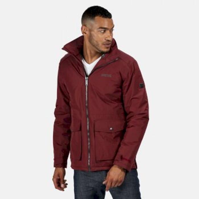 Regatta Men/'s Hebson Waterproof Insulated Jacket Red