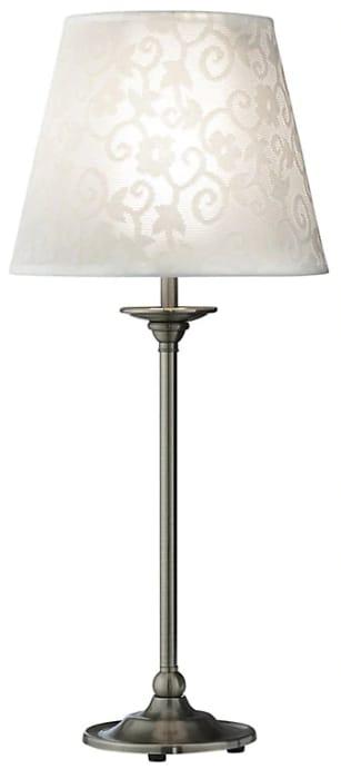 Strasbourg Nickel Effect Incandescent Table Lamp HALF PRICE