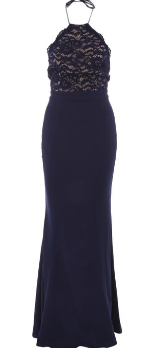 JARLO Navy Lace Detail Chelsea Dress