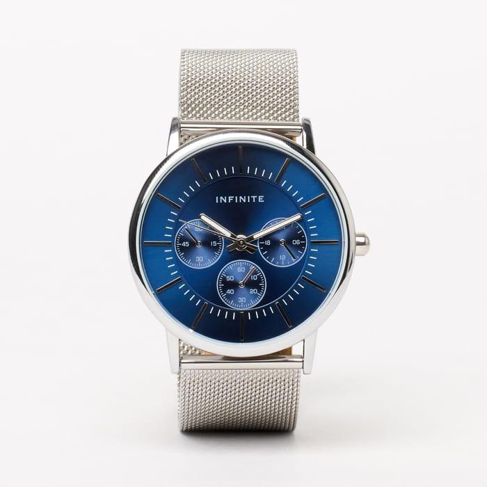 Infinite - Silver Mesh Chronograph Watch