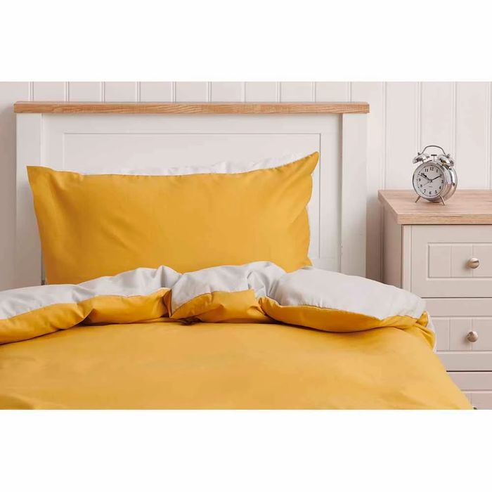 Wilko Ochre Grey Reversible Duvet Single