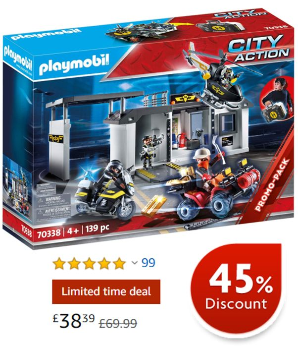 PLAYMOBIL Take Along Tactical Unit Headquarters (70338)