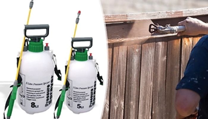 5L or 8L Garden Pressure Sprayer - Fence Painting & Weedkilling