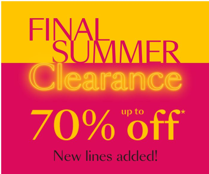 Debenhams Final Summer Clearance Up To 70% Off Home & Clothing