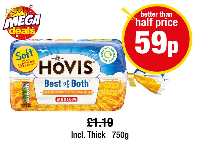 Hovis Best of Both Medium Incl. Thick,
