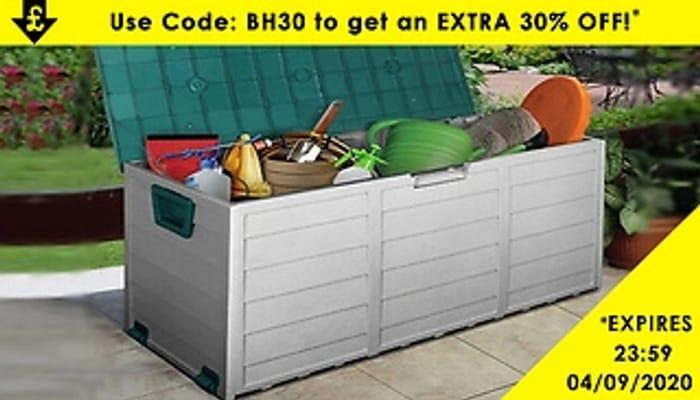 XL Heavy Duty Waterproof Outdoor Storage Box + EXTRA 10% Off