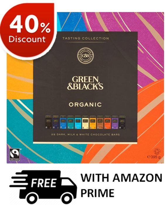 40% OFF! Green & Black's Organic Tasting Collection Boxed Chocolates, 395g