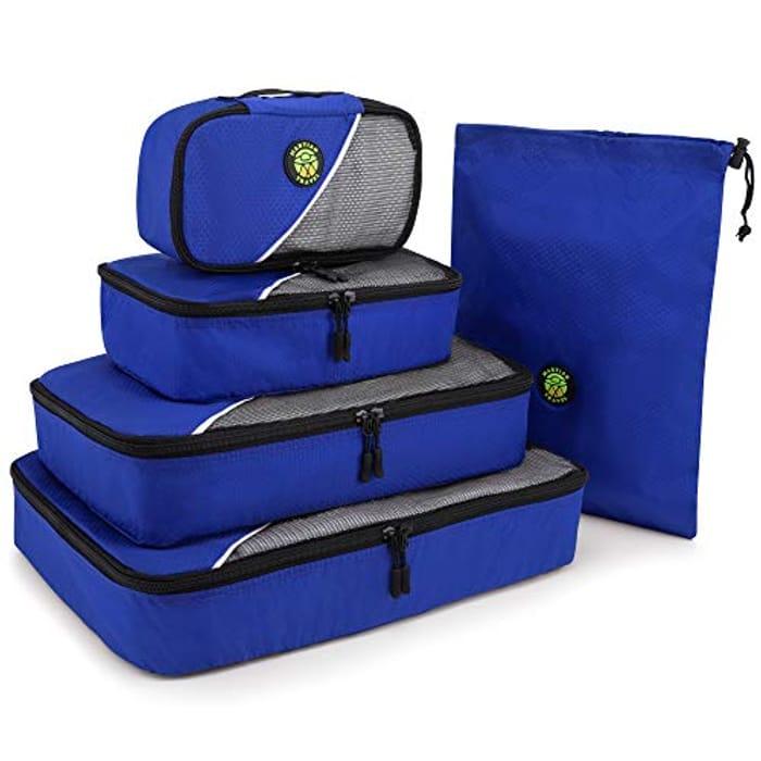 Blue Storage Bags for Clothes 5 Piece Value Set - Suitable