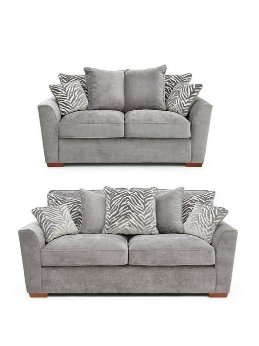*SAVE £420* Kingston Fabric 3 Seater + 2 Seater Scatter Back Sofa Set