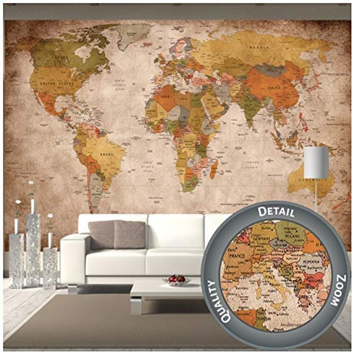 DEAL STACK - GREAT ART Mural Retro World Map