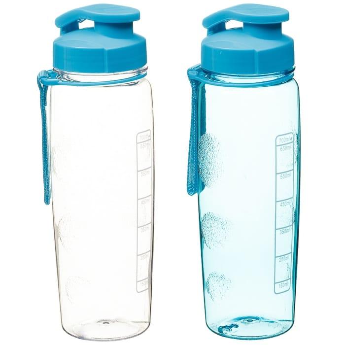 Flip Top Drinking Bottles 2pk - Blue