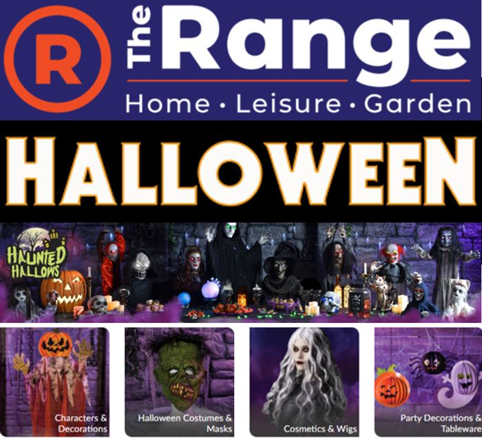 CHEAP! Get Ready for HALLOWEEN - Huge Halloween Range at the Range!