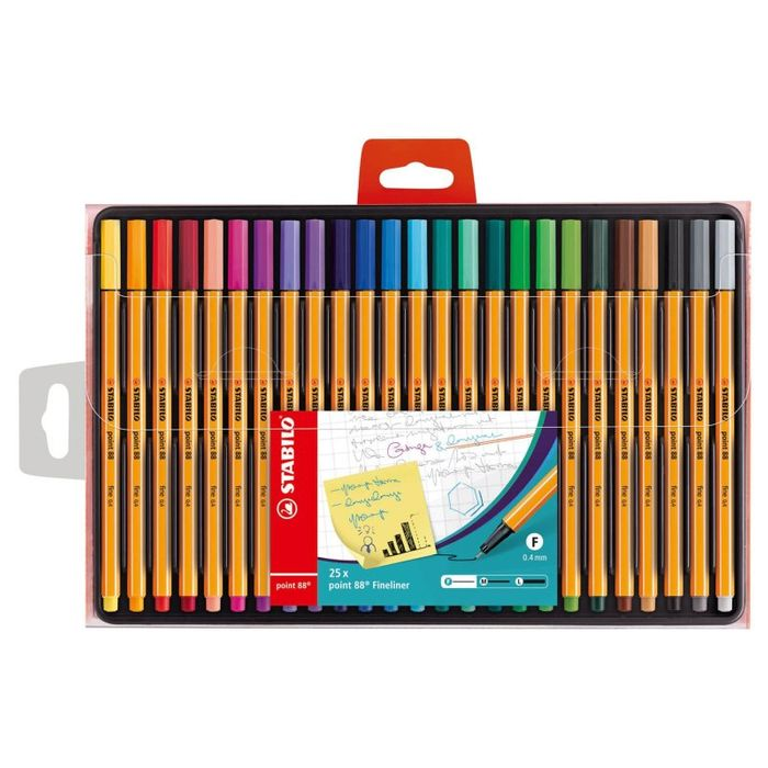 Save £30,Stabilo Fineliner Pens,25 pack,B&M