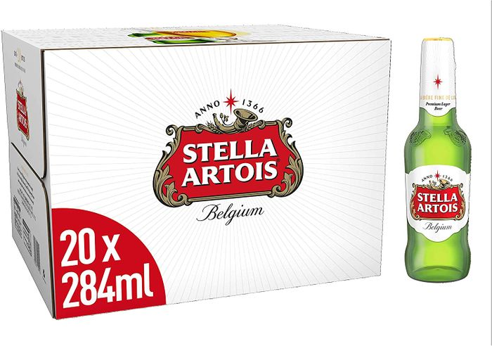 20 Stella Artois Premium Lager Beer Bottles & FREE DELIVERY WITH PRIME