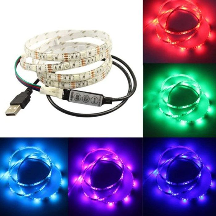 LED Light Strip USB TV Backlight Universal RGB- Free Delivery