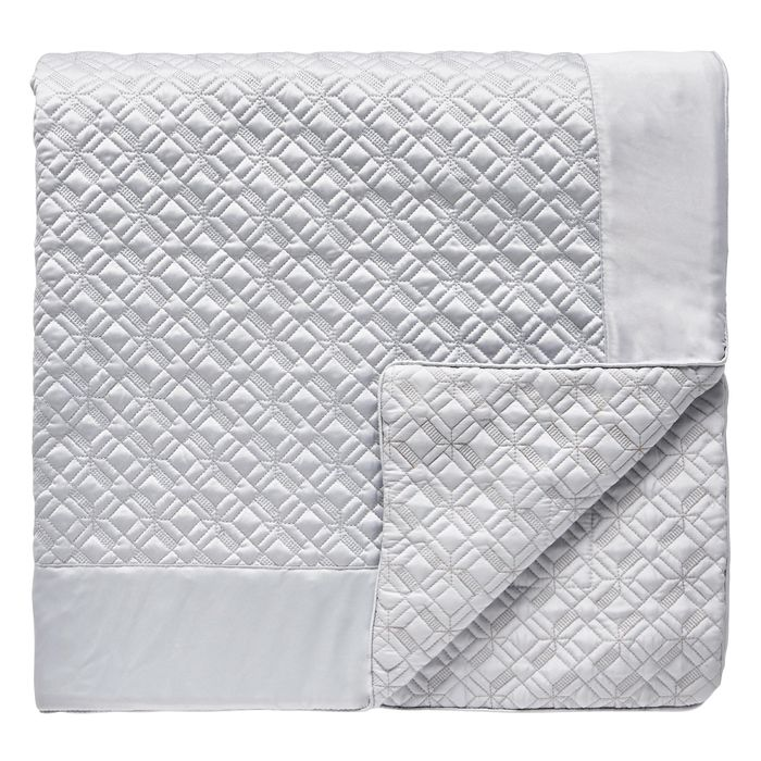 Hotel-Silver Patterned 'Merton' Throw