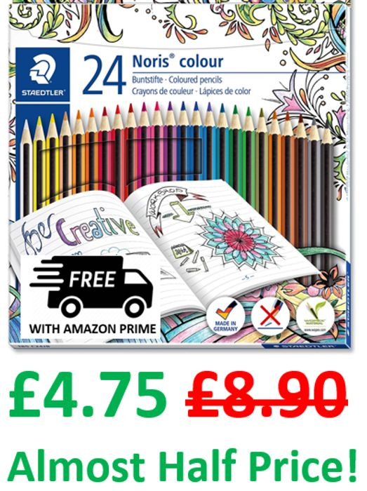 Staedtler Noris Colouring Pencils, Pack of 24