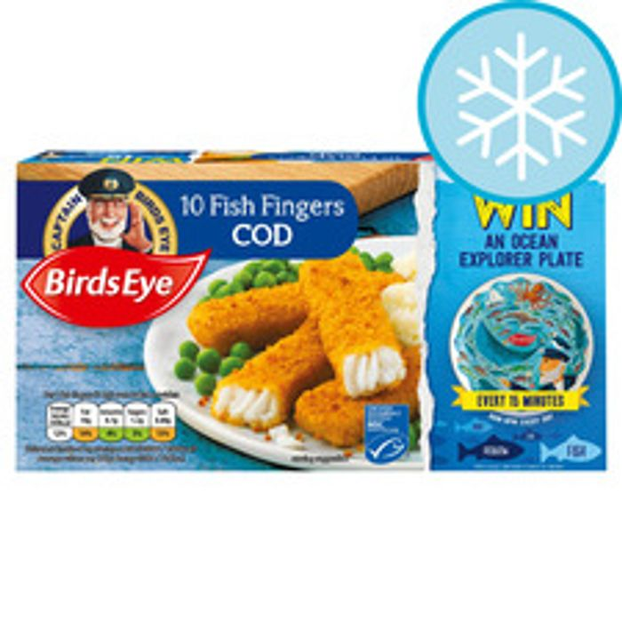 Birds Eye Cod Fish Fingers 10 Pack 280G