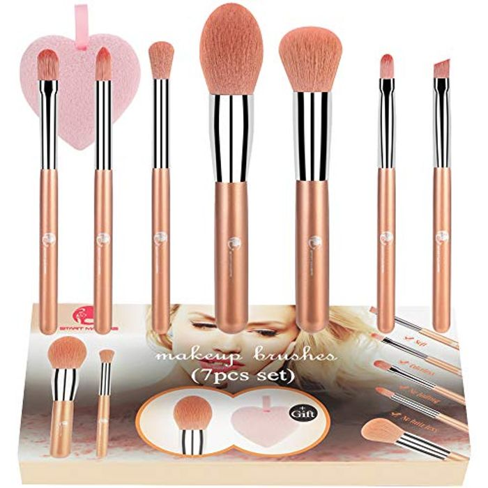 7Pcs Professional Make up Brushes - 50% off with Code!