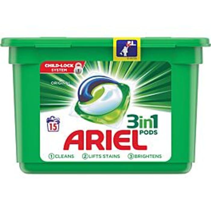 Ariel Original 3 in 1 - 15 Washing Pods