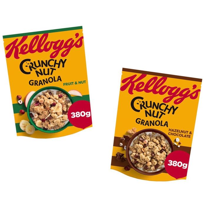 Crunchy Nut Granola - Hazelnut & Chocolate / Fruit & Nut - Half Price!