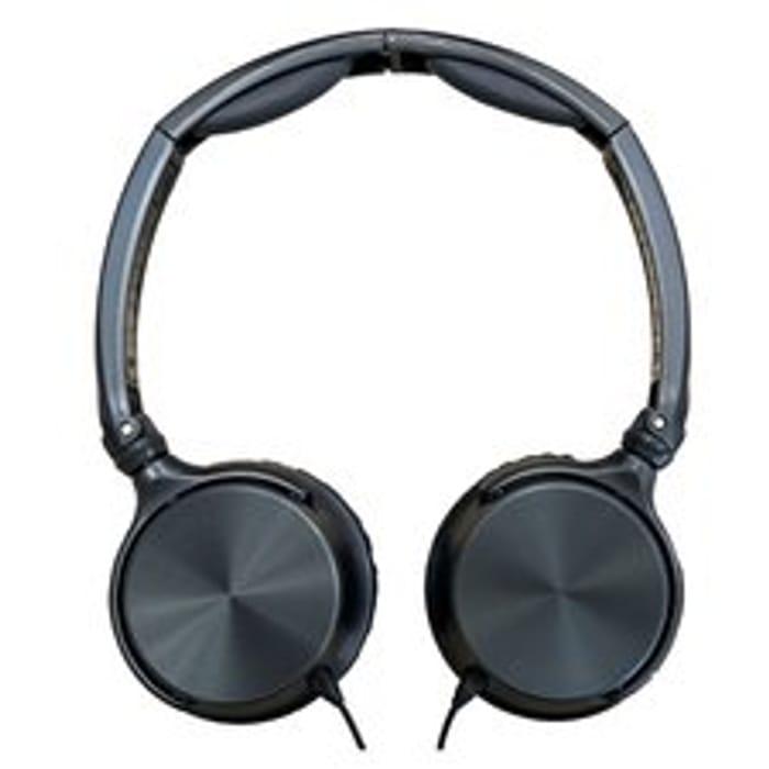 Tesco Technika Foldable Overhead Blue Headphones
