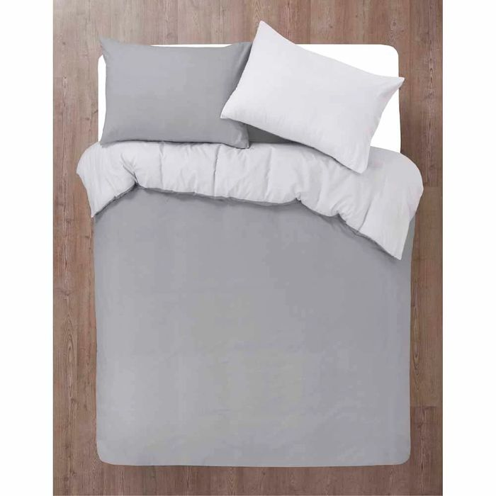 Wilko Grey Reverable Texure Print Duvet Set King Size