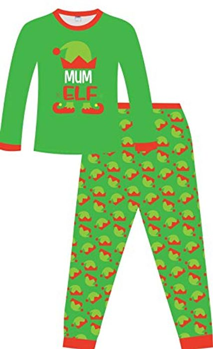 Mum Elf Christmas Pyjamas