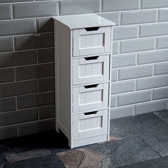 Bathroom 4 Drawer Floor Standing Cabinet