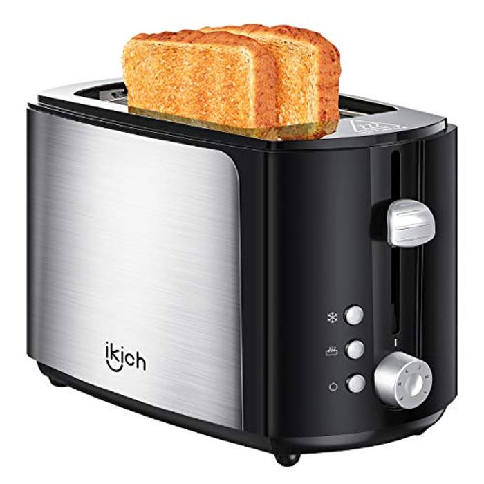 2 Slice Brushed Stainless Steel Toasters with £12 off Coupon