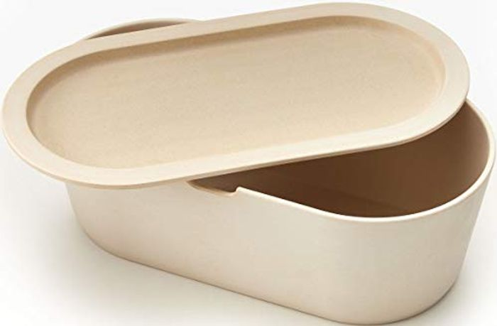 Modern Cream Eco Bamboo Bread Box with £5 off Coupon