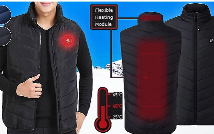 USB Electric Heated Padded Gilet + EXTRA 10% Off