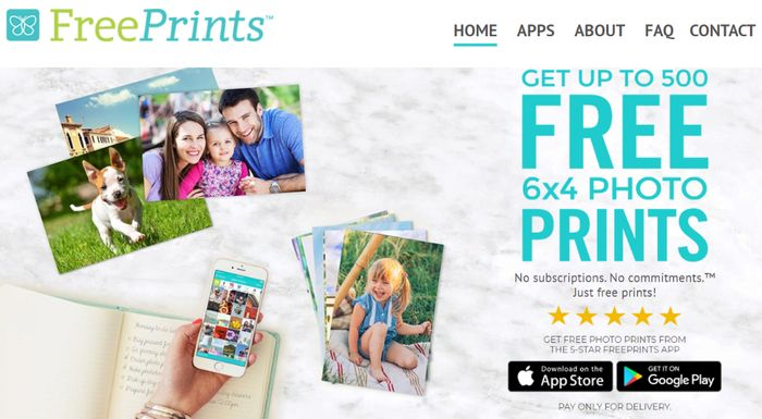 Get Up To 500 - 6 X 4 Prints FREE!