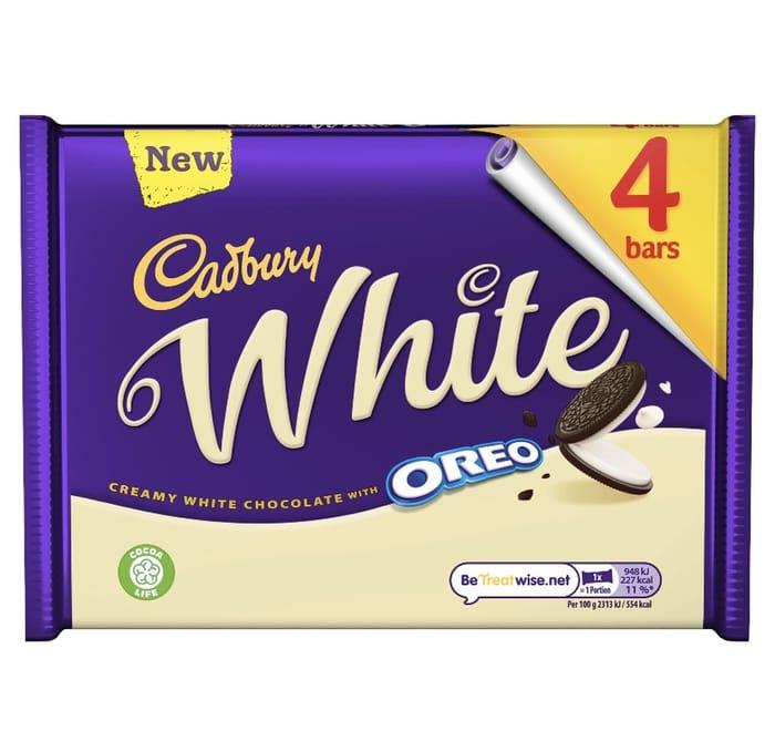 Cadbury Dairy Milk with Oreo White Chocolate Bars - 4 Pack