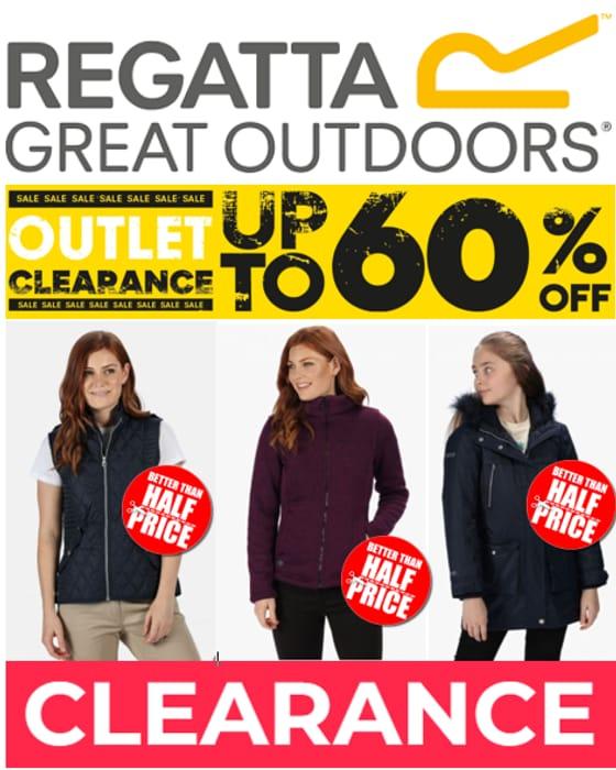 REGATTA CLEARANCE DEALS - up to 60% off Jackets, Coats, Gilets, Fleece Etc