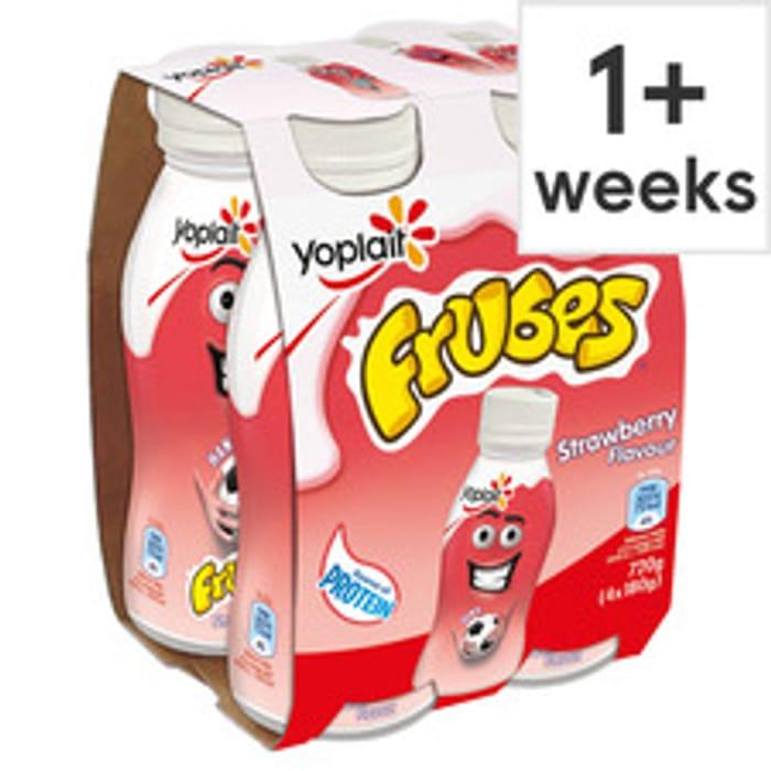 Frubes Strawberry Yogurt Drink 4 X 180G