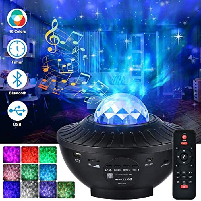 50% off LED Star Light Projector with Bluetooth Music Speaker & Remote Control