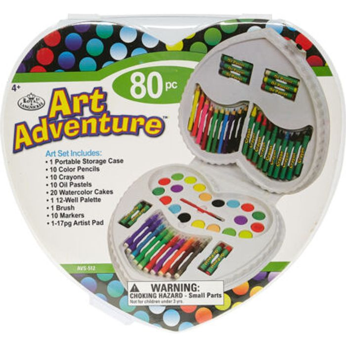 ROYAL & LANGNICKEL Art Adventure 80 Pc Set