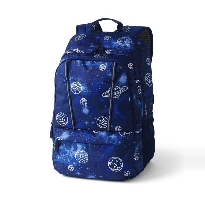 Lands' End - Blue Classmate Large Backpack, Print