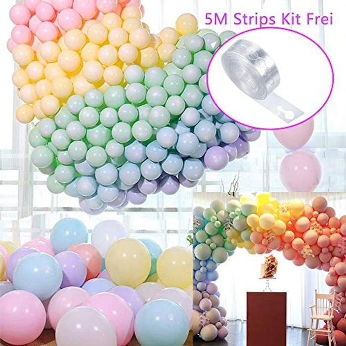 100 Pcs 10 Inch Macaron Coloured Latex Balloons