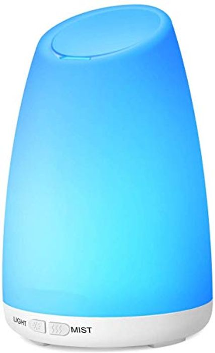 Aroma Diffuser, 150 Ml Ultrasonic Humidifier for Essential Oil with 7 Colors LED