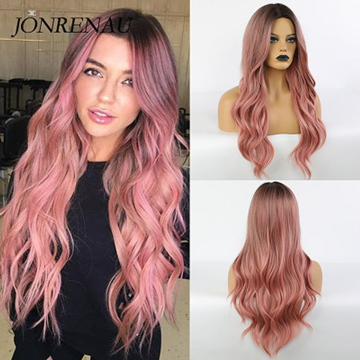 58% off Long Pink Synthetic Hair Wigs