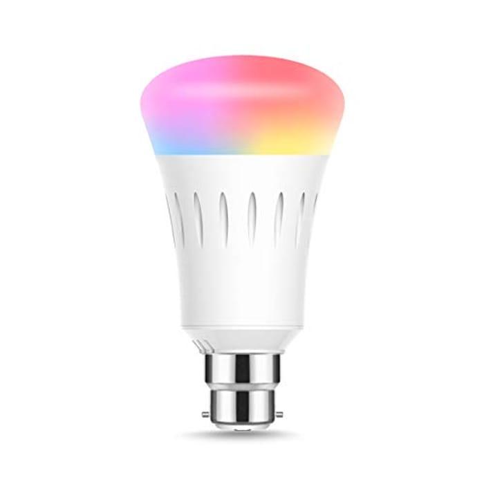 WiFi Smart Light Bulb B22 Bayonet, LED 9W Replace for 60 Watt (1 Pack)