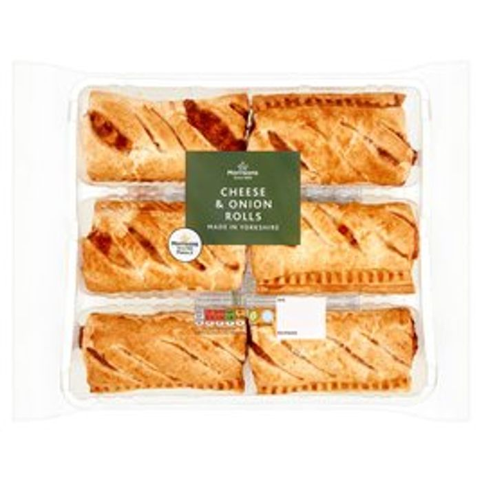 Morrisons 6 Fresh Bake Cheese & Onion Rolls