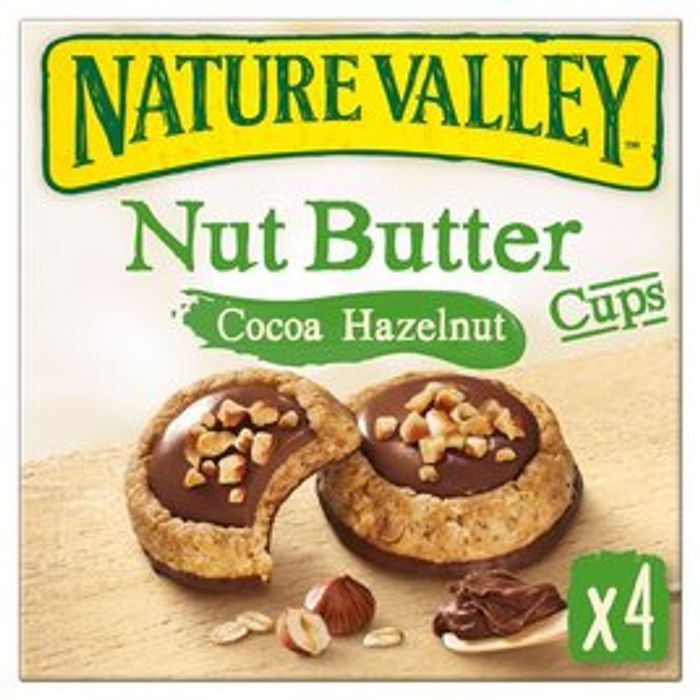 Nature Valley Nut Butter Cups Cocoa Hazelnut 4 X 35g