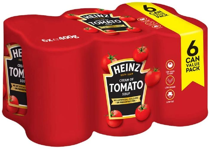 Heinz Cream of Tomato Soup Big Family, 6 X 400g