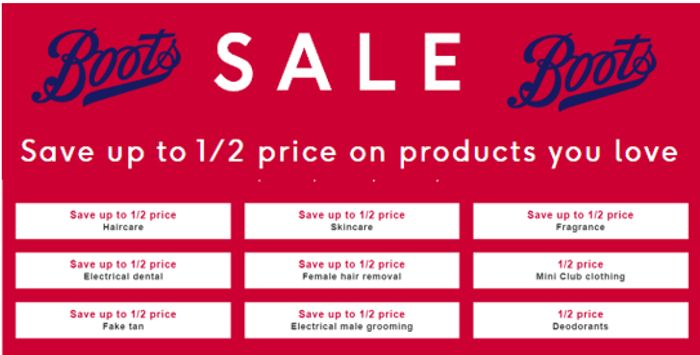 Boots SALE - up to 50% OFF