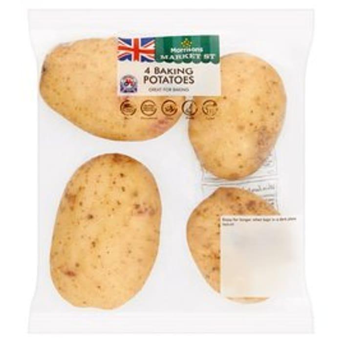Morrisons Baking Potatoes 4 per Pack