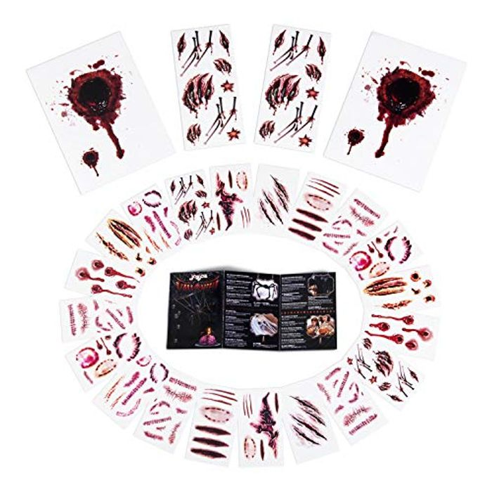Halloween Fake Blood Zombie Costume Temporary Tattoo