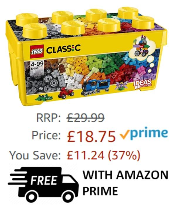 Cheap! LEGO CLASSIC Medium Creative Brick Box (10696) Amazon Price £18.75